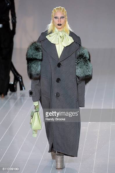 Lady Gaga walks the runway at the Marc Jacobs Fall 2016 show during New York Fashion Week at The Park Avenue Armory at 643 Park Avenue on February 18...