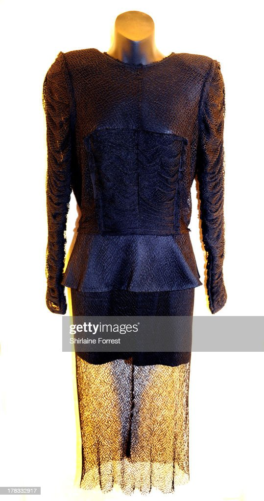 Lady Gaga's dress designed by Oscar Lima is displayed as part of Hard Rock Cafe's Hard Rock Couture exhibition on August 29, 2013 in Manchester, England.