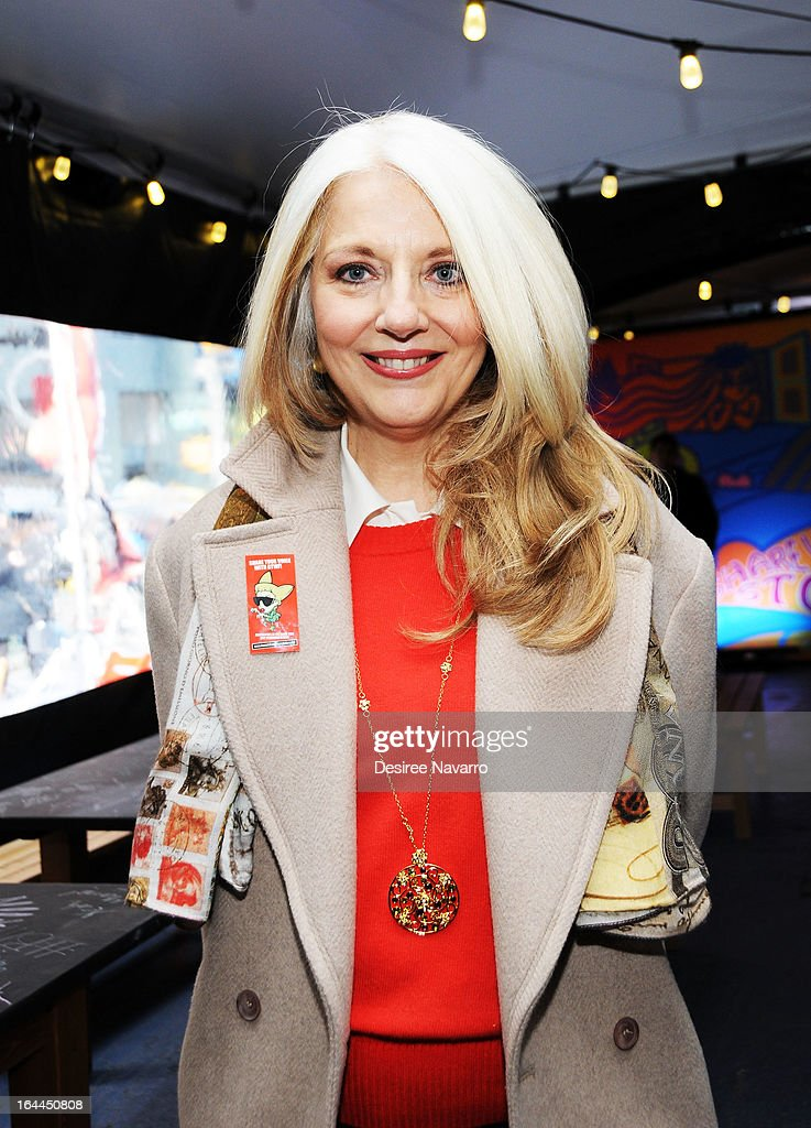 Lady Gaga's mother and BTWF Co-Founder and President Cynthia Germanotta attends Lady Gaga's Born Brave Bus Tour at Times Square on March 23, 2013 in New York City.