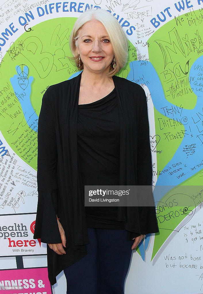 Lady Gaga's mother Cynthia Germanotta attends the Born This Way Foundation's 'Born Brave Bus' Pre-show Tailgate Party at STAPLES Center on January 21, 2013 in Los Angeles, California.