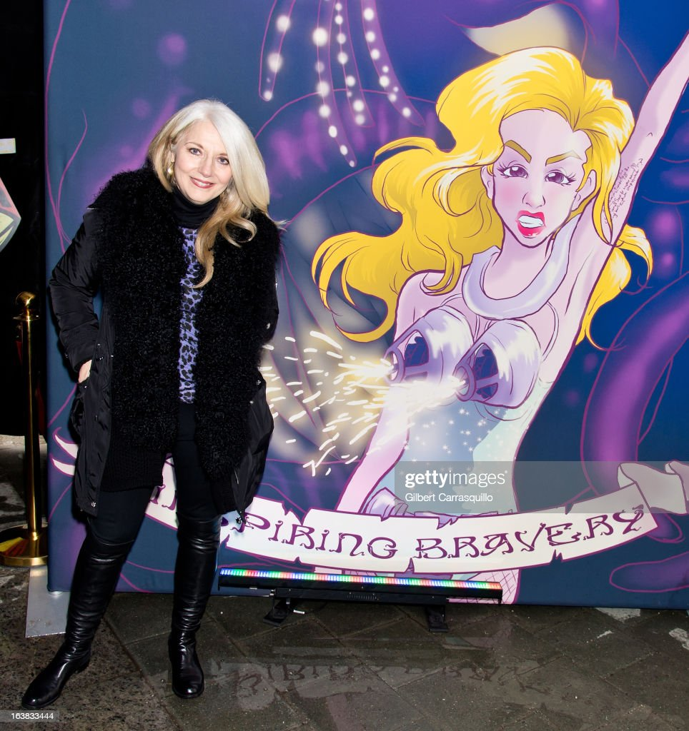 Lady Gaga's mother Cynthia Germanotta, Co-Founder and President of the Born This Way Foundation, attends the Lady Gaga's Born This Way Bus Tour at Philadelphia Museum of Art on March 16, 2013 in Philadelphia City.