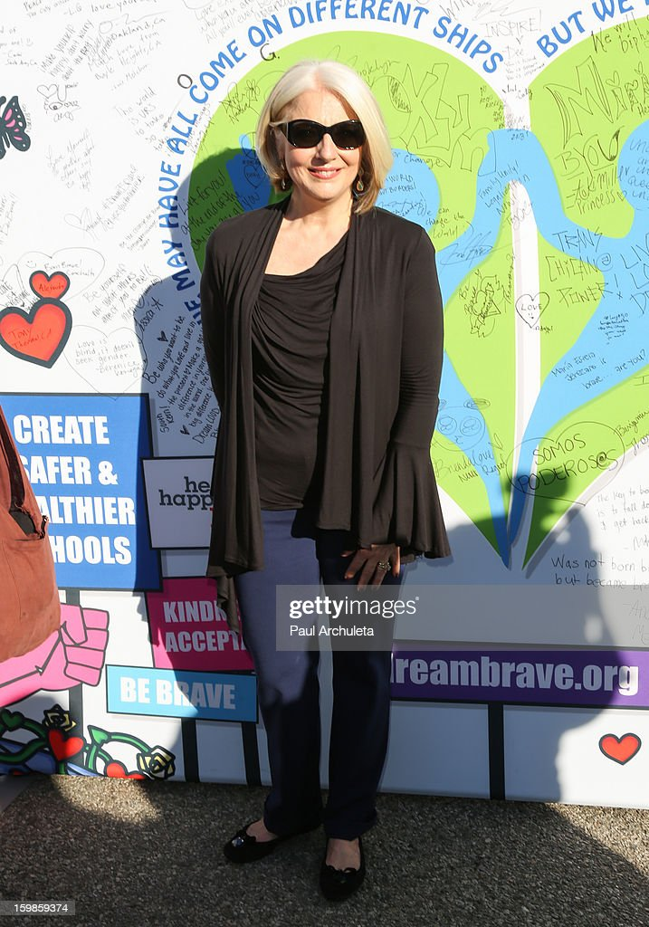 Lady Gaga's mother Cynthia Germanotta of the Born This Way Foundation attends the 'Born Brave Bus' pre-show tailgate party on January 21, 2013 in Los Angeles, California.