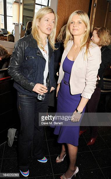 Lady Helen Taylor and Clare MilfordHaven attend the Maggie's Barts fundraising luncheon at Le Cafe Anglais on March 19 2013 in London England