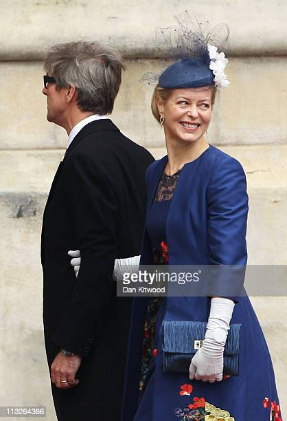 Lady Helen Taylor and Mr Timothy Taylor arrive to attend the Royal Wedding of Prince William to Catherine Middleton at Westminster Abbey on April 29...