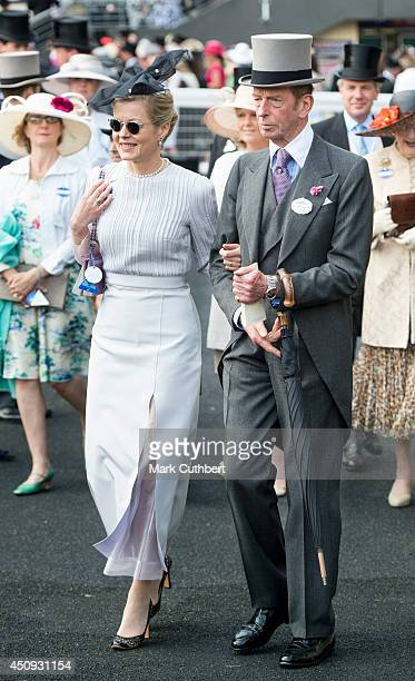 Lady Helen Taylor and Prince Edward Duke of Kent attend Day 4 of Royal Ascot at Ascot Racecourse on June 20 2014 in Ascot England