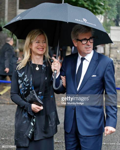 Lady Helen Taylor and Tim Taylor attend the funeral of Patricia Knatchbull Countess Mountbatten of Burma at St Paul's Church Knightsbridge on June 27...