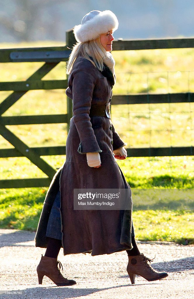 Lady Helen Taylor arrives at St. Mary Magdalene Church, Sandringham to attend Sunday service along with Queen Elizabeth II and Prince Philip, Duke of Edinburgh on January 13, 2012 near King's Lynn, England.