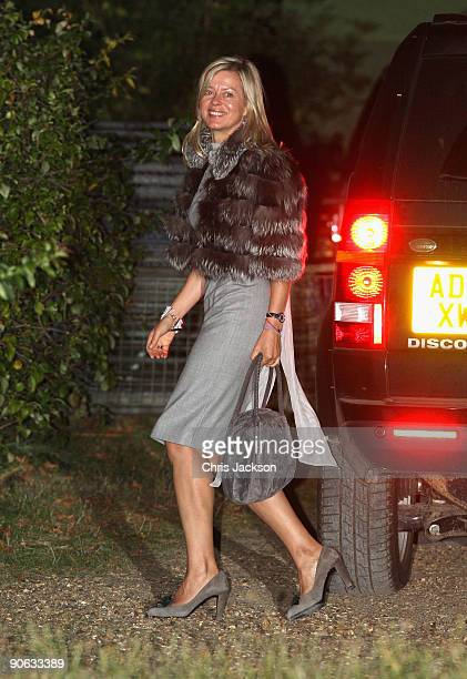 Lady Helen Taylor arrives back from the wedding of Lord Fredrick Windsor and Sophie Winkleman for a reception at Lady Annabel Goldsmith's house...