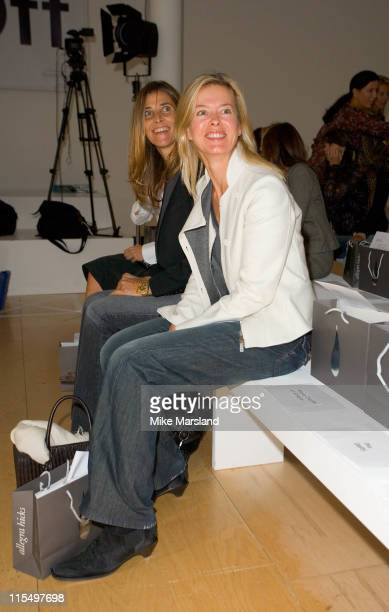 Lady Helen Taylor front row at Allegra Hicks Spring/Summer 2006