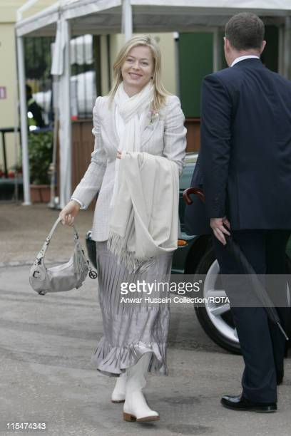 Lady Helen Taylor visits the RHS Chelsea Flower Show in London on May 21 2007