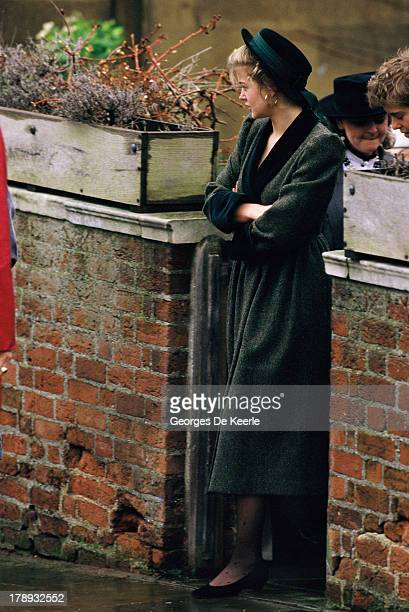Lady Helen Windsor attends the Royal Christmas Service at St George's Chapel on December 25 1984 in Windsor England