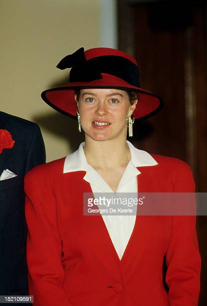 Lady Helen Windsor attends the wedding of Sylvana Palma Tomaselli to George Windsor Earl of St Andrews the eldest son of Prince Edward Duke of Kent...