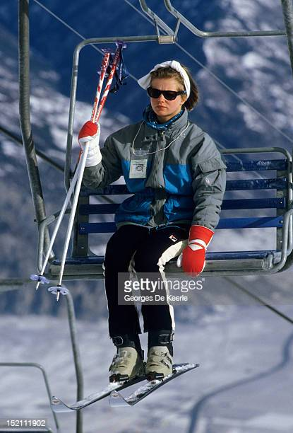 Lady Helen Windsor skiing in Switzerland on February 25 1985