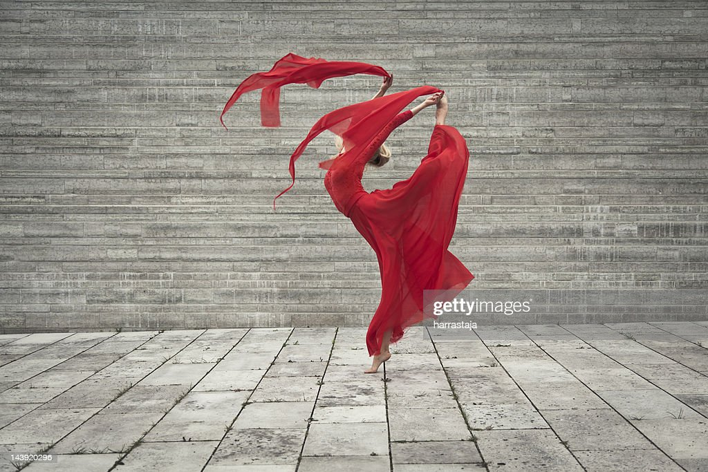 lady in red : Stock Photo