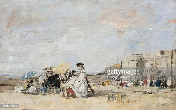 Lady in white on the beach at Trouville Found in the collection of Musée d'art moderne André Malraux Le Havre