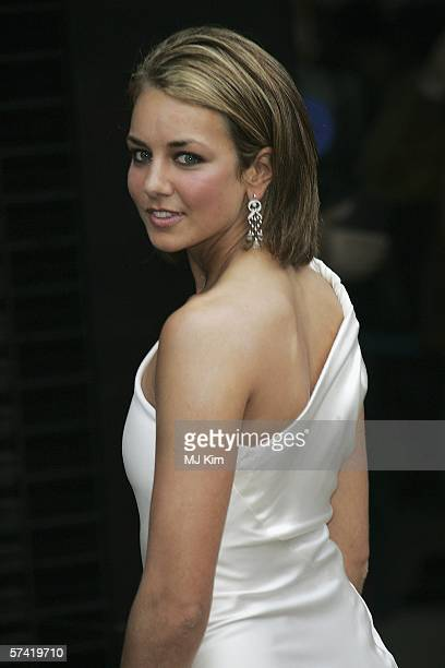 Lady Isabella Hervey arrives at the UK Premiere of 'Mission Impossible 3' the third film in the action movie series at the Odeon Leicester Square on...