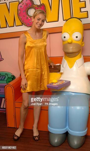 Lady Isabella Hervey arrives for the UK Premiere of The Simpsons Movie at the Vue Cinema The O2 Peninsula Square London