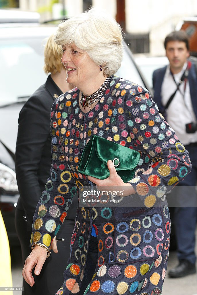 Lady Jane Fellowes arrives at Claridges Hotel to attend the wedding reception for Alexander Fellowes (Lady Jane's Son) and Alexandra Finlay following their wedding ceremony at the Chapel of St Mary Undercroft in the Palace of Westminster on September 20, 2013 in London, England.
