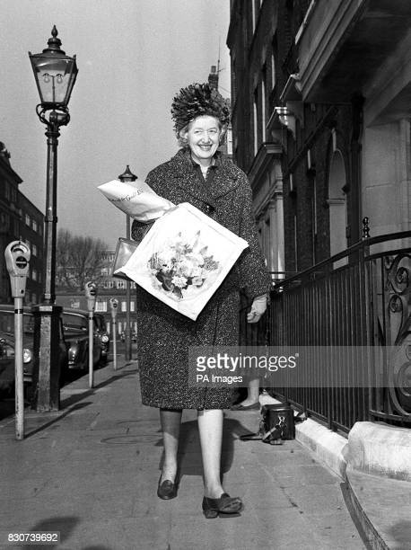 Lady Jean Margaret Rankin lady in waiting to Quenn Ekizabeth the Queen Mother arrives at King Edward VII hospital in London where the Queen Mother...