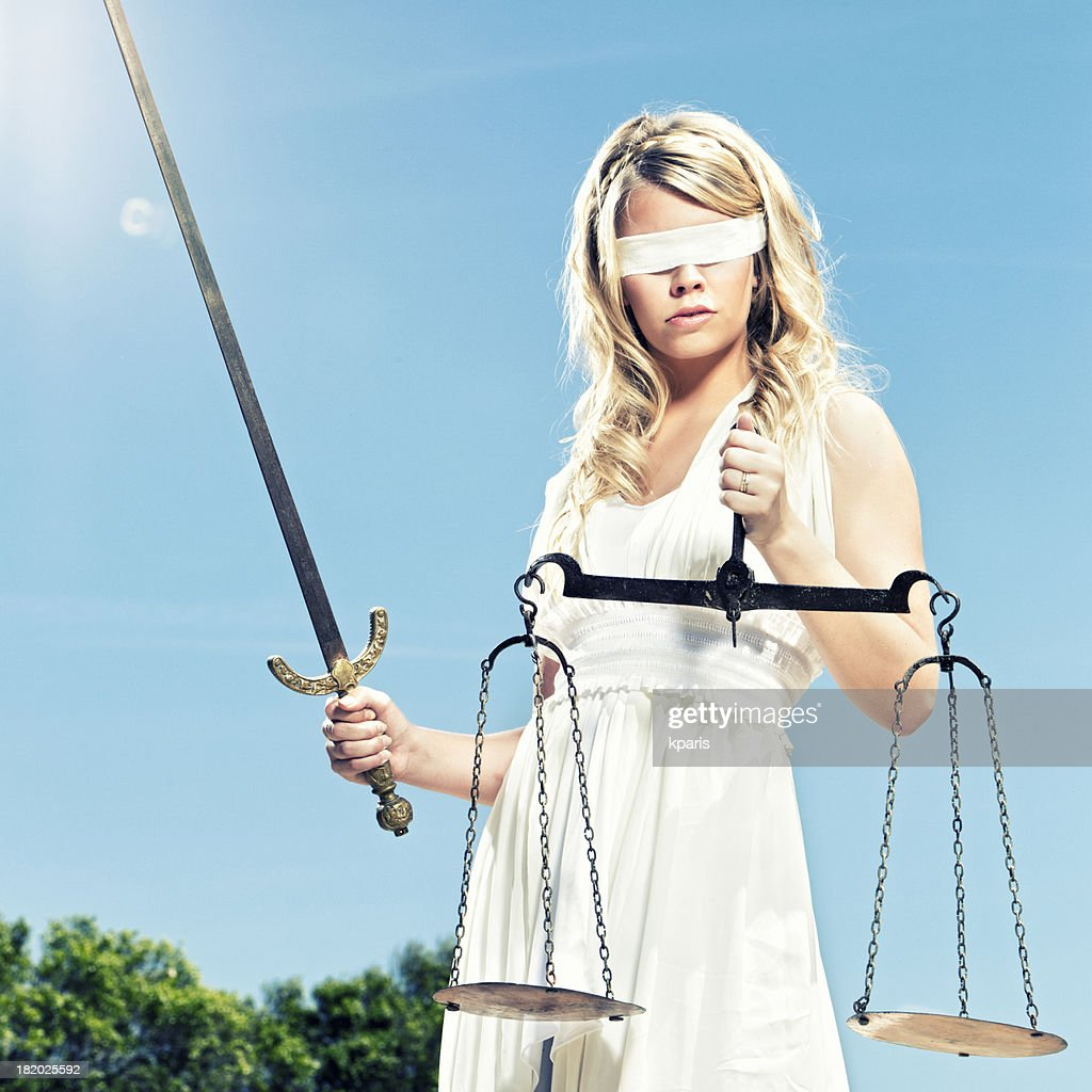 Blind Justice Stock Photos and Pictures   Getty Images