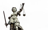 Lady Justice with textspace