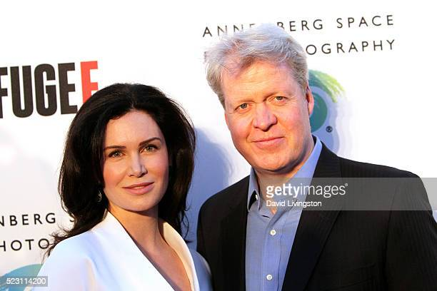 Lady Karen Spencer and Earl Charles Spencer arrive at the opening of 'Refugee' at The Annenberg Space For Photography on April 21 2016 in Century...