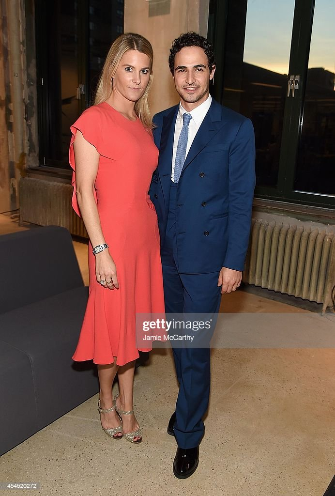 Lady Kinvara Balfour and designer Zac Posen attend the AOL's Build Speaker Series at AOL Studios In New York on September 2, 2014 in New York City.