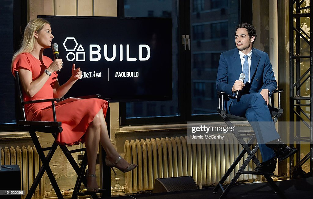 Lady Kinvara Balfour and designer <a gi-track='captionPersonalityLinkClicked' href=/galleries/search?phrase=Zac+Posen+-+Fashion+Designer&family=editorial&specificpeople=4442066 ng-click='$event.stopPropagation()'>Zac Posen</a> attend the AOL's Build Speaker Series at AOL Studios In New York on September 2, 2014 in New York City.