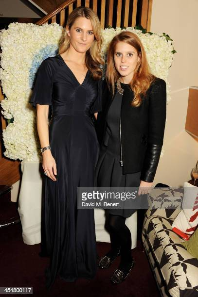 Lady Kinvara Balfour and Princess Beatrice of York attend the launch of the Beulah London / French Sole collaboration in aid of the UN Blue Heart...