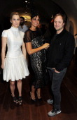 Lady Kinvara Balfour Debbie Von Bismarck and Nicholas Kirkwood attend the private view of Isabella Blow Fashion Galore a new Somerset House...