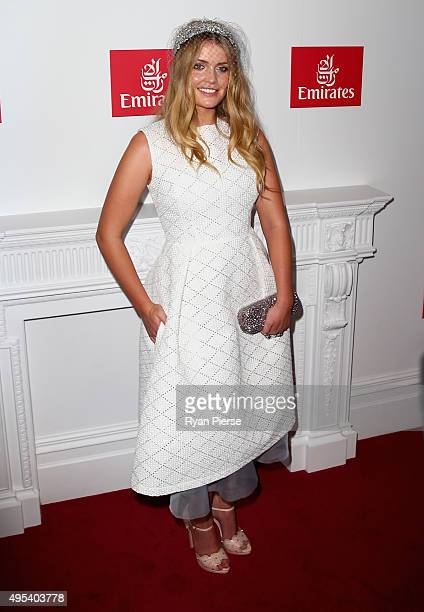 Lady Kitty Eleanor Spencer poses at the Emirates Marquee on Melbourne Cup Day at Flemington Racecourse on November 3 2015 in Melbourne Australia