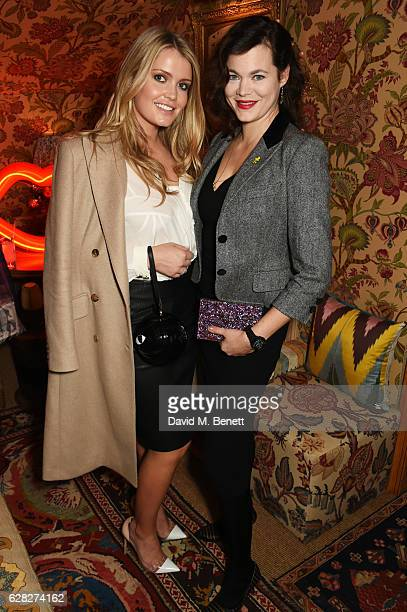 Lady Kitty Spencer and Jasmine Guinness attend as Lulu Guinness Jasmine Guinness celebrate Christmas with friends at Upstairs 5 Hertford Street on...