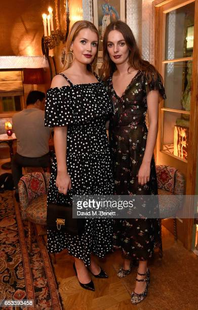 Lady Kitty Spencer and Lady Violet Manners attend the Luisa Beccaria and Robin Birley event celebrating Sicilian lifestyle music and fashion at...