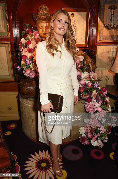 Lady Kitty Spencer attends a VIP dinner celebrating the launch of Mrs Alice for French Sole at Annabel's on February 2 2016 in London England