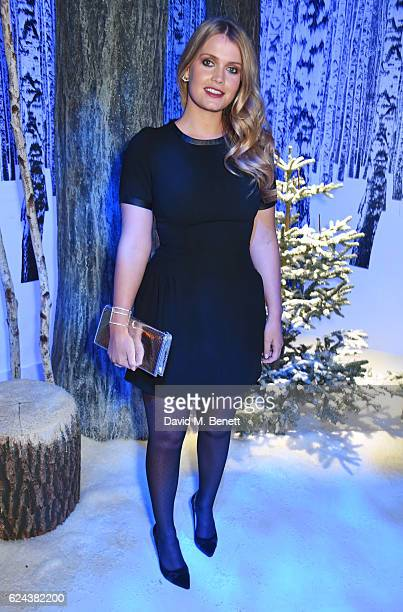 Lady Kitty Spencer attends Claridge's Christmas Tree 2016 Party with tree designed by Sir Jony Ive and Marc Newson at Claridge's Hotel on November 19...