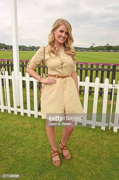 Lady Kitty Spencer attends The Cartier Queen's Cup final at Guards Polo Club on June 14 2015 in Egham England