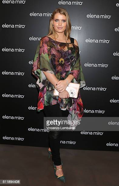 Lady Kitty Spencer attends the 'Fiori' by Gian Paolo Barbieri book and exhibition presentation on February 23 2016 in Milan Italy