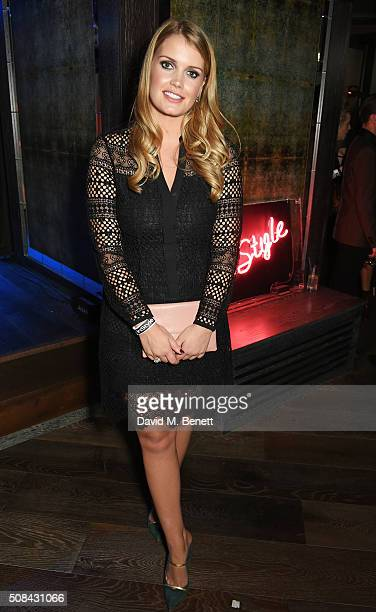 Lady Kitty Spencer attends the InStyle EE Rising Star party ahead of the EE BAFTA Awards at 100 Wardour St on February 4 2016 in London England