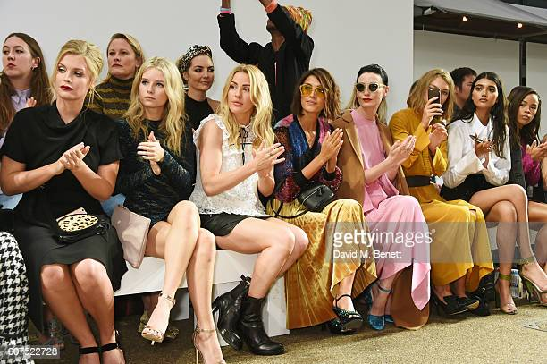 Lady Kitty Spencer Lottie Moss Ellie Goulding Hikari Yokoyama Erin O'Connor Arizona Muse Neelam Gill and Serayah McNeill attend the Topshop Unique...