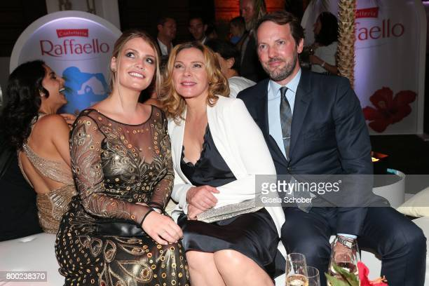 Lady Kitty Spencer niece of Lady Di daughter of Charles Spencer Kim Cattrall and her partner Russel Thomas during the Raffaello Summer Day 2017 to...