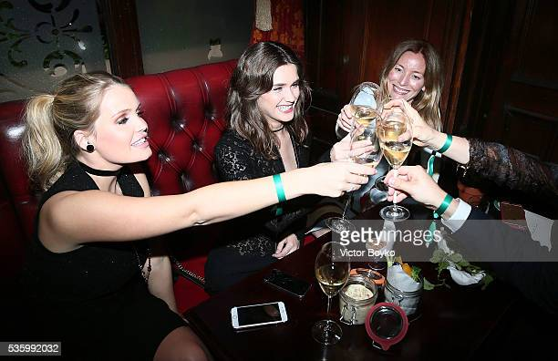 Lady Kitty Spencer Sai Bennett and Lucie de la Falaise attend the Dior Welcome Dinner at the Lady Dior Pub to celebrate the Cruise Collection 2017 on...