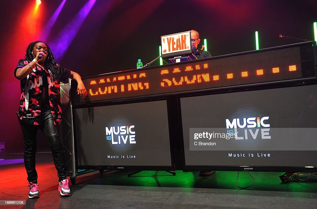 Lady Leshurr performs on stage for the Superstars Of Hip Hop concert at Eventim Apollo, Hammersmith on November 2, 2013 in London, United Kingdom.