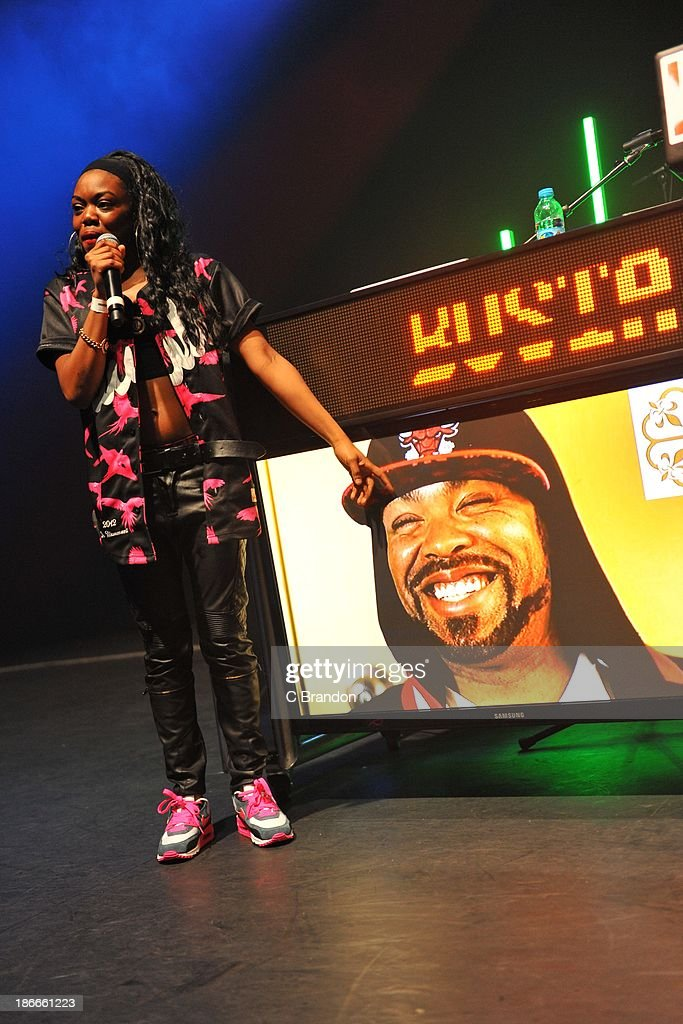 <a gi-track='captionPersonalityLinkClicked' href=/galleries/search?phrase=Lady+Leshurr&family=editorial&specificpeople=8692189 ng-click='$event.stopPropagation()'>Lady Leshurr</a> performs on stage for the Superstars Of Hip Hop concert at Eventim Apollo, Hammersmith on November 2, 2013 in London, United Kingdom.