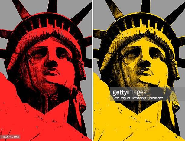 Lady Liberty Pop Art Modern Design