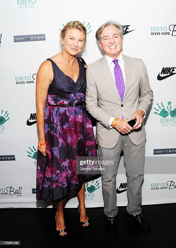 Lady Lilana Cavendish and designer Geoffrey Bradfield attend the 2013 Edeyo Gives Hope Ball at Highline Ballroom on July 10, 2013 in New York City.