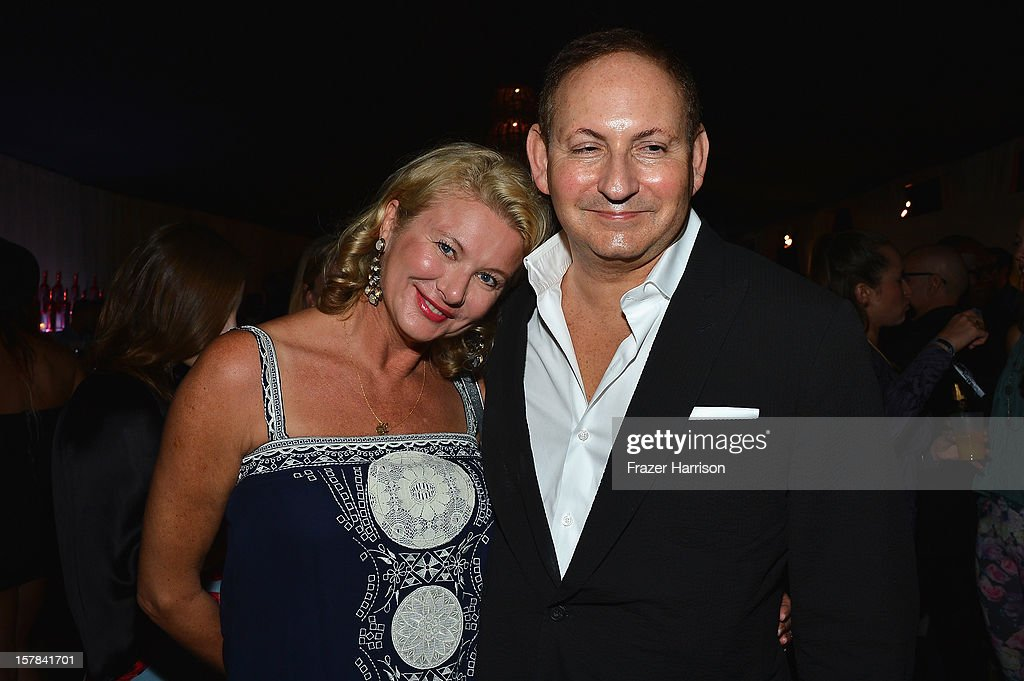 Lady Liliana Cavendish (L) and John Dempsy attends the amfAR Inspiration Miami Beach Party on December 6, 2012 in Miami Beach, United States.