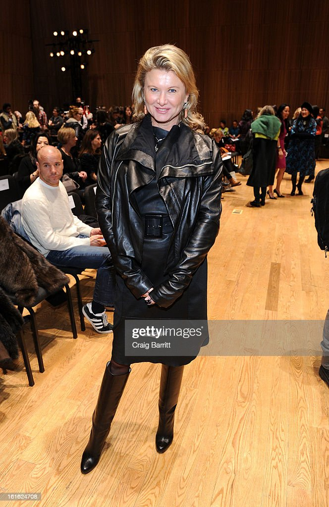 Lady Liliana Cavendish attends the Douglas Hannant fall 2013 fashion show during Mercedes-Benz Fashion Week at the Dimenna Center for Classica Music on February 13, 2013 in New York City.