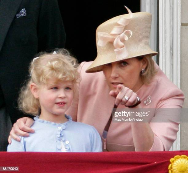 Lady Louise Windsor and HRH Sophie Countess of Wessex on the balcony of Buckingham Palace during the annual event of the Queens Colour of First...