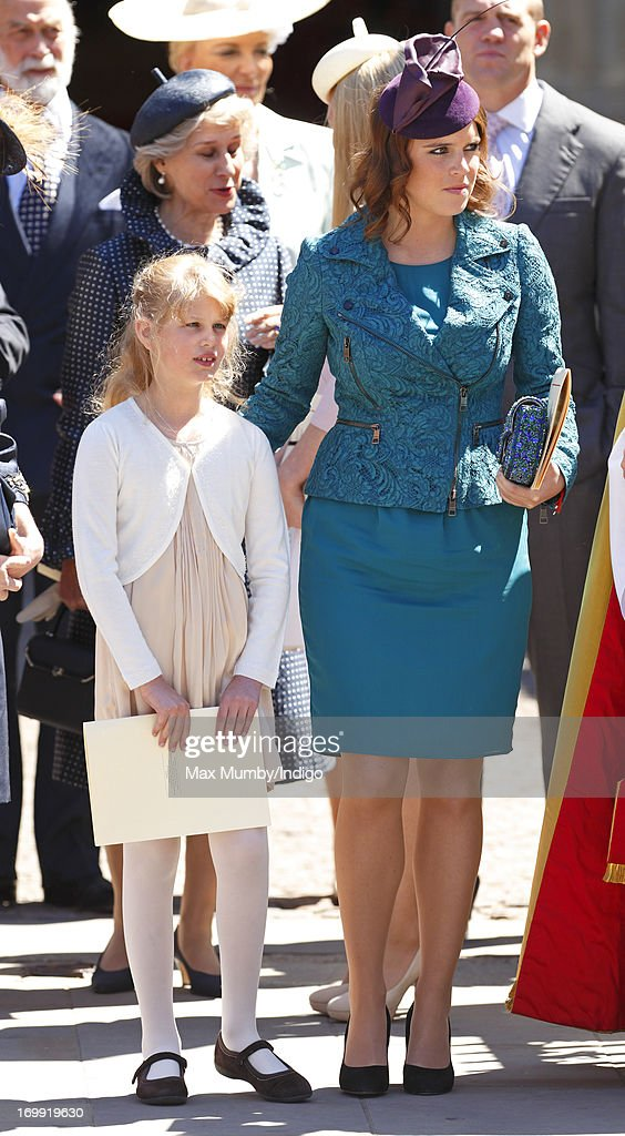 <a gi-track='captionPersonalityLinkClicked' href=/galleries/search?phrase=Lady+Louise+Windsor&family=editorial&specificpeople=159482 ng-click='$event.stopPropagation()'>Lady Louise Windsor</a> and <a gi-track='captionPersonalityLinkClicked' href=/galleries/search?phrase=Princess+Eugenie&family=editorial&specificpeople=160237 ng-click='$event.stopPropagation()'>Princess Eugenie</a> of York attend a service of celebration to mark the 60th anniversary of the Coronation of Queen Elizabeth II at Westminster Abbey on June 4, 2013 in London, England. The Queen's Coronation took place on June 2, 1953 after a period of mourning for her father King George VI, following her ascension to the throne on February 6, 1952. The event 60 years ago was the first time a coronation was televised for the public.