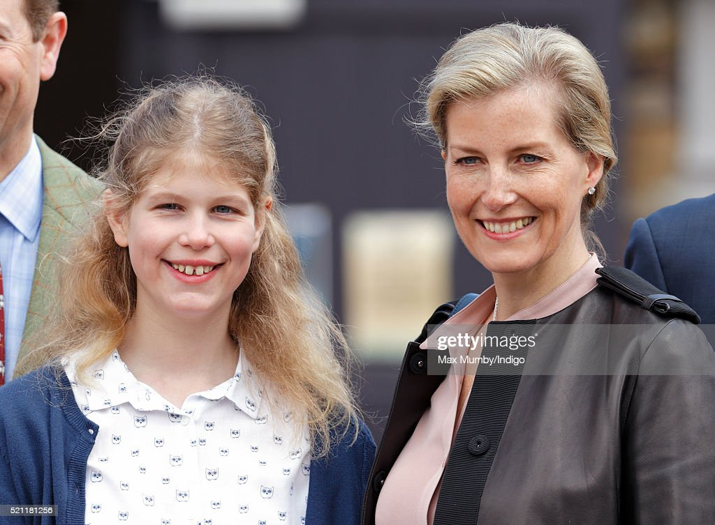 Lady Louise Windsor and Sophie, Countess of Wessex visit the Wild Place Project at Bristol Zoo on April 14, 2016 in Bristol, England.